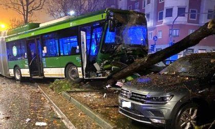 Autobus si schianta contro le auto parcheggiate: tre feriti