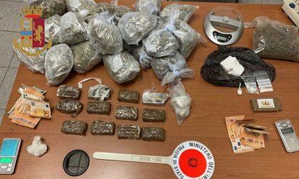 Quasi 4 chili di droga nascosti in ufficio e in casa: due arresti