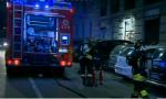 Incendio notturno in una pizzeria milanese