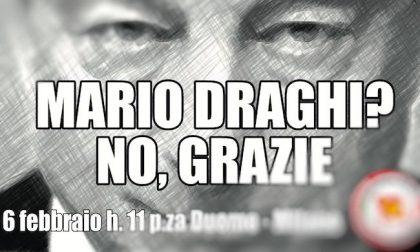"""""""No a Draghi"""", la manifestazione in piazza Duomo di Rifondazione"""