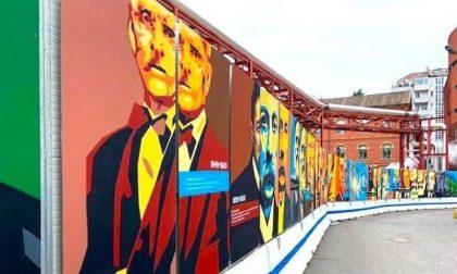 I murales di Orticanoodles colorano il cantiere del nuovo Policlinico