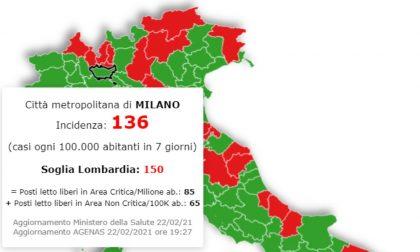 In Lombardia la situazione peggiora ma Milano resta (di poco) sotto la soglia critica