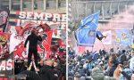 Derby Milan-Inter, i video e le foto degli assembramenti davanti a San Siro