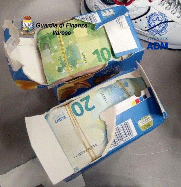 70mila euro nella pasta sequestro Malpensa