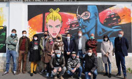 I muri di via Pesto si colorano con i murales dedicati a Diabolik