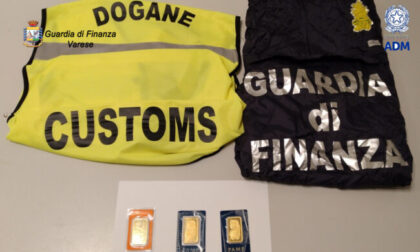 Contrabbando a Malpensa: trovate tre placchette d'oro puro