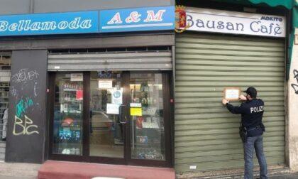 Controlli della polizia, il Questore sospende la licenza a un bar e a un negozio di abbigliamento