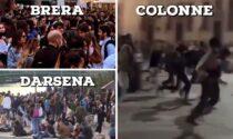 I video degli assembramenti dalle Colonne di San Lorenzo alla Darsena