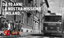 Atm festeggia i suoi 90 anni: la campagna per immagini a Milano