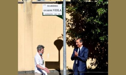 Inaugurati i Giardini Giuseppe Viola, intitolati all'ironico giornalista sportivo