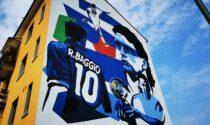 """Baggio ai Navigli di Milano, un maxi murales celebra le gesta del """"Divin Codino"""""""