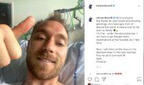 Sorriso e pollice alto: il post di Eriksen rassicura tutti i tifosi