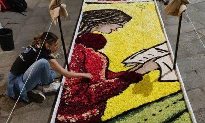 Semina Milano, gli artisti di Noto impegnati nella prima infiorata di Via della Spiga