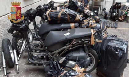 Scooter rubati a Milano e smontati nel garage di casa: arrestato