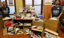 Sequestrati oltre 1200 scarpe e vestiti contraffatti