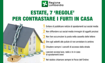 Sette regole per prevenire i furti in casa e partire tranquilli