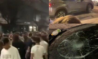 """Davanti al liceo Leonardo 2mila giovani per il """"Leo fest"""": auto danneggiate, musica alta e risse"""