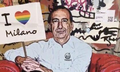 Sala con i calzini arcobaleno: l'ultima opera di Tvboy sul Naviglio
