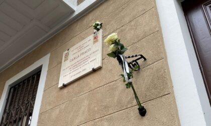 Una targa per Carla Fracci nel quartiere di Milano dove visse da giovane