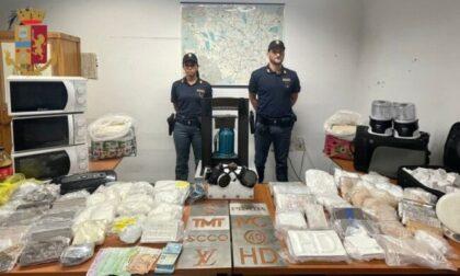 La casa trasformata in raffineria: sequestrati 40 kg di droga
